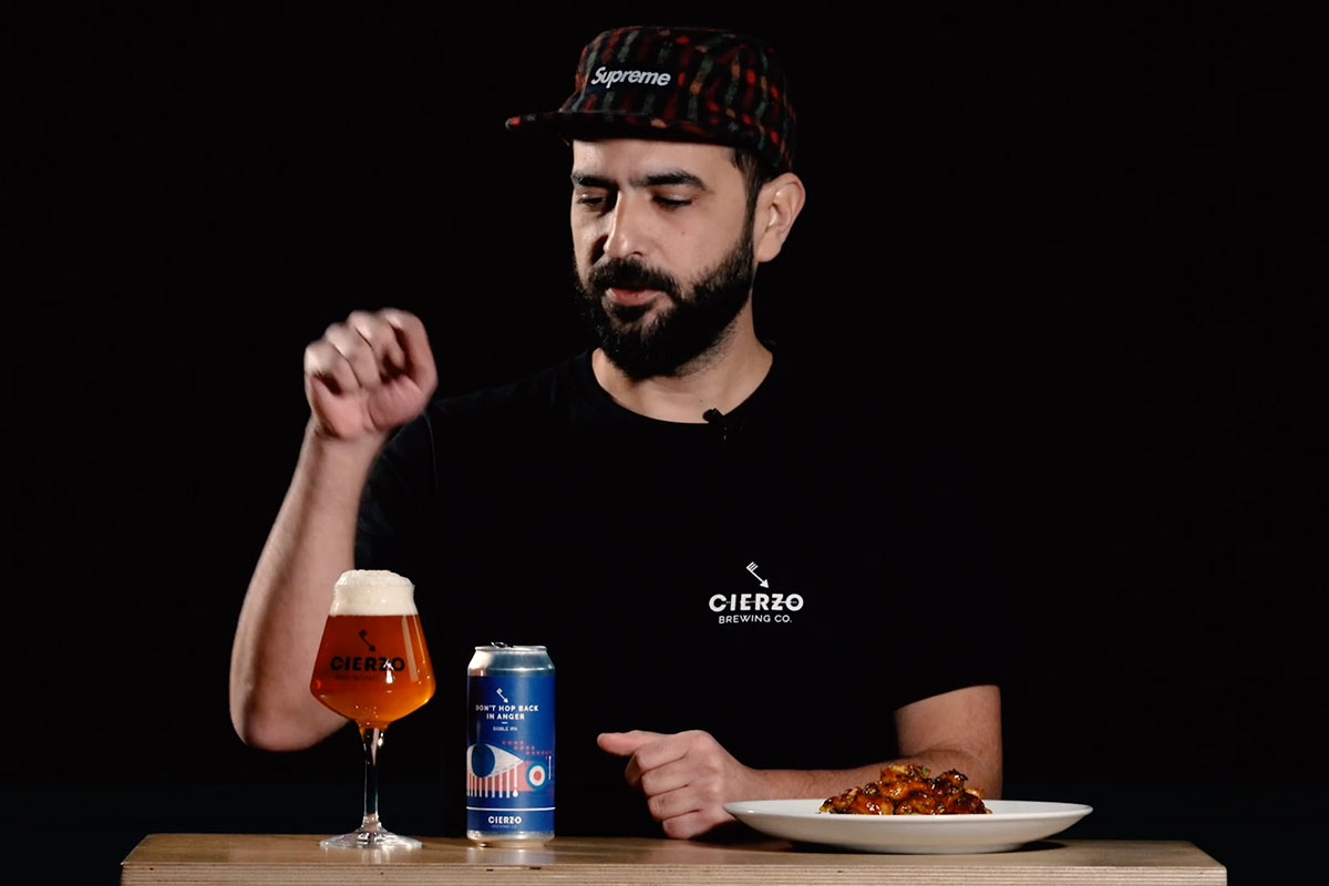 Fernando nos presenta la cerveza artesanal Don't Hop Back in Anger de Cierzo Brewing - Video corporativo para RRSS
